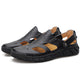 Men's Leather Slip on Sandals