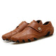 Konhill Men's Handmade Leather Flats