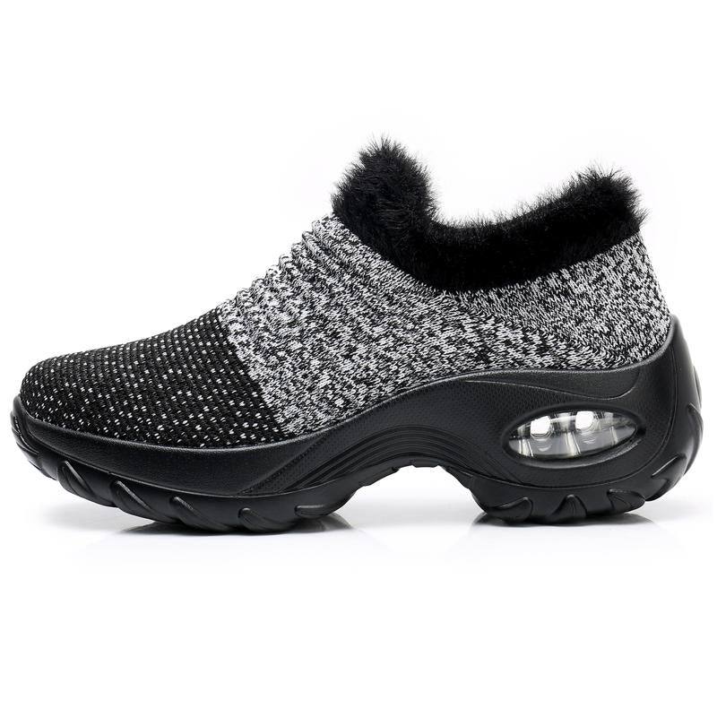 New Women's Knitted Sneakers-Furry