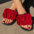 Tiosebon Women's Big Flower Slippers