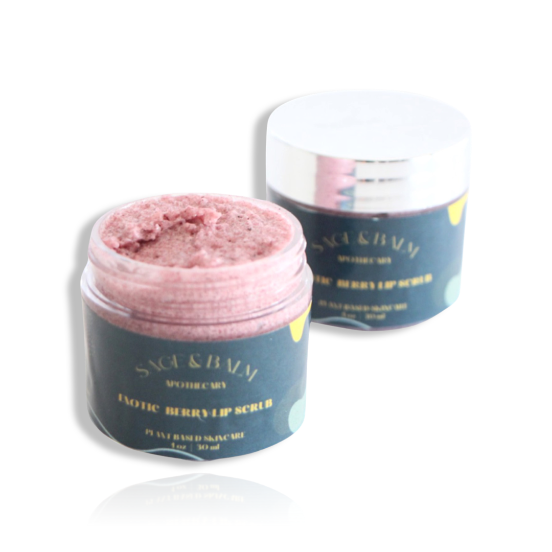EXOTIC BERRY LIP SCRUB - Sage and Balm