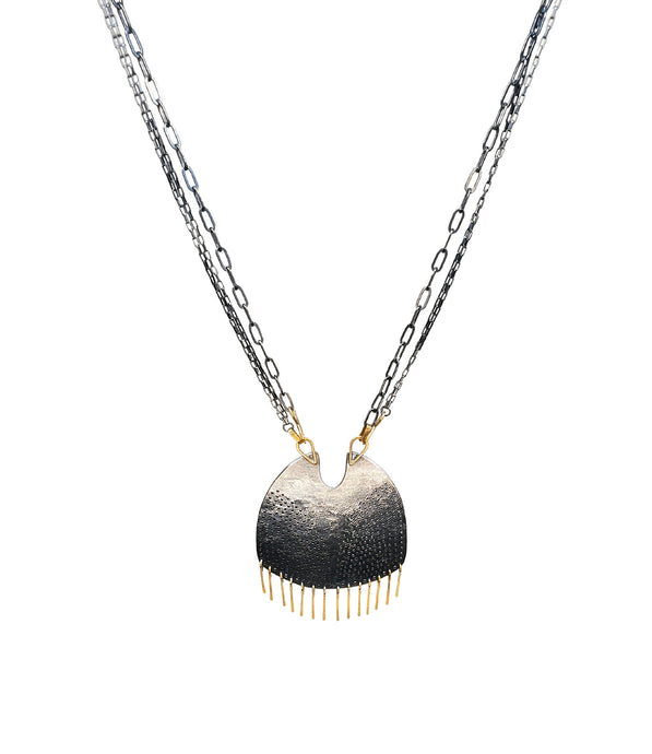 Gibbous Fringe Necklace