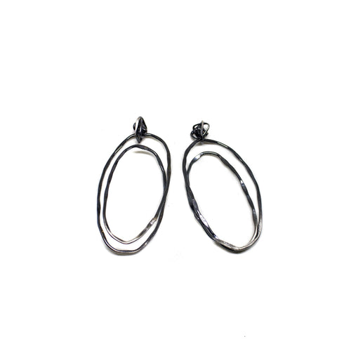 Oval Knot Hoops