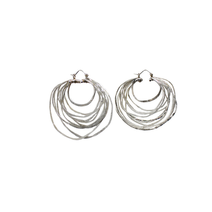 Large Crescent Hoop Earrings