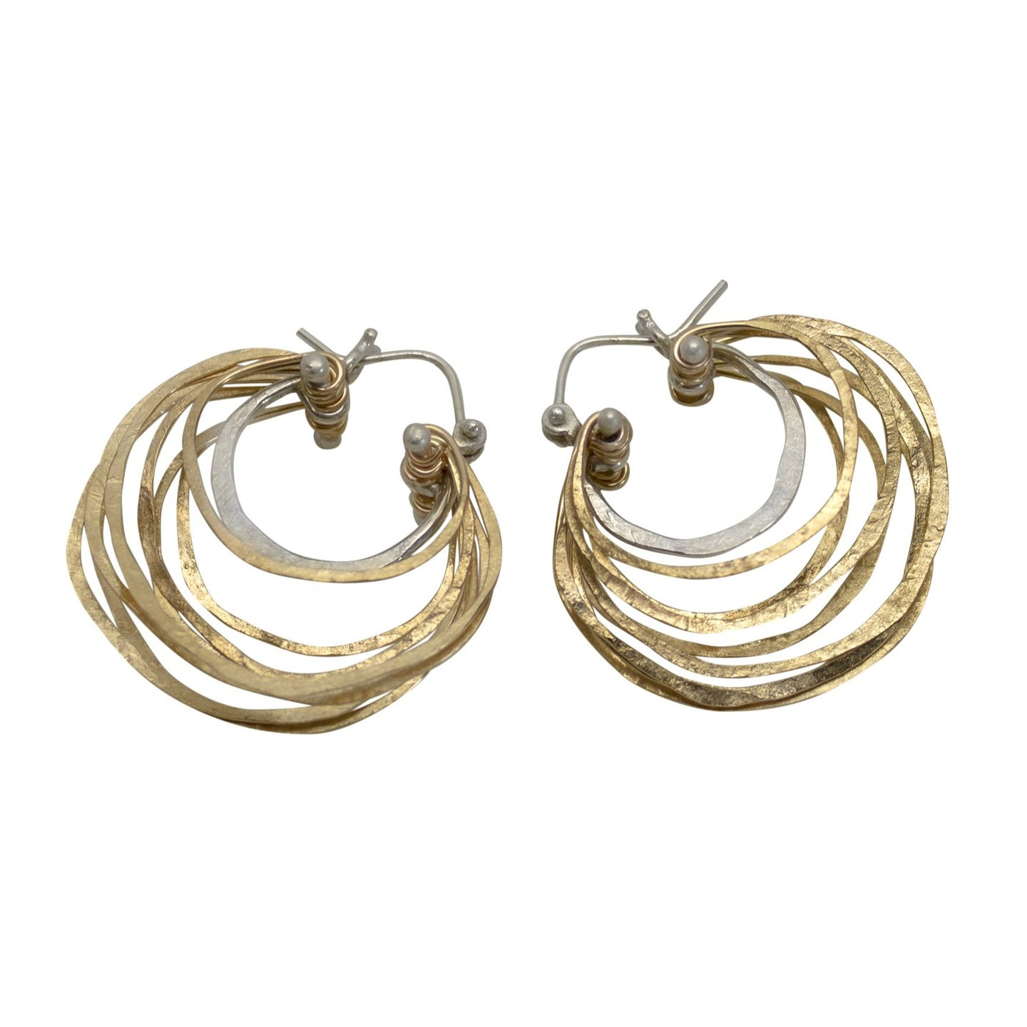 Small Crescent Hoop Earrings in 14kt Gold Fill