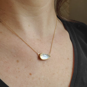 Moonstone Tear Drop Pendant