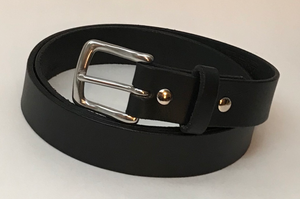 "Sturdy 1.25"" Cowhide Belt Constructed from Single Piece of Leather - FREE SHIPPING - Made in the USA!"