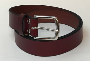 "Rugged 1.5"" Cowhide Belt from Single Strip of Leather - FREE SHIPPING - Made in the USA!"