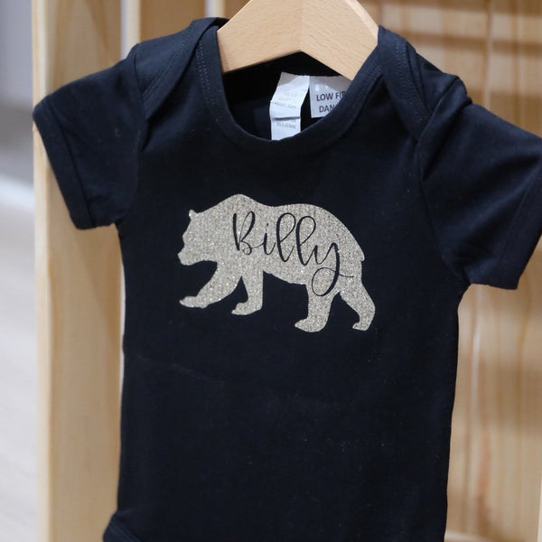 Baby short sleeve bodysuit - 4 Custom personalised designs