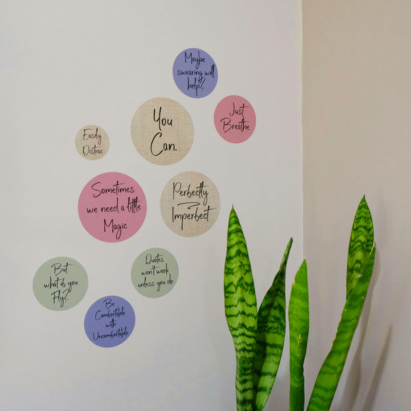 Motivational Wall Decals - Perfectly Imperfect