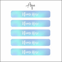 Name Label Waterproof Stickers - qty 102 - Mixed size pack