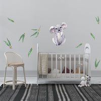 Wall Decals - Australian gum leaves and animals