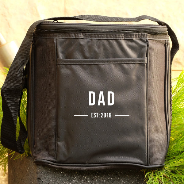 6 Drink Cooler Bag - Dad est - personalised