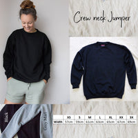 Crew Neck Jumper - Mum Cursive Font - Personalised