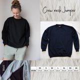 Crew Neck Jumper - Mum Block Font - Personalised
