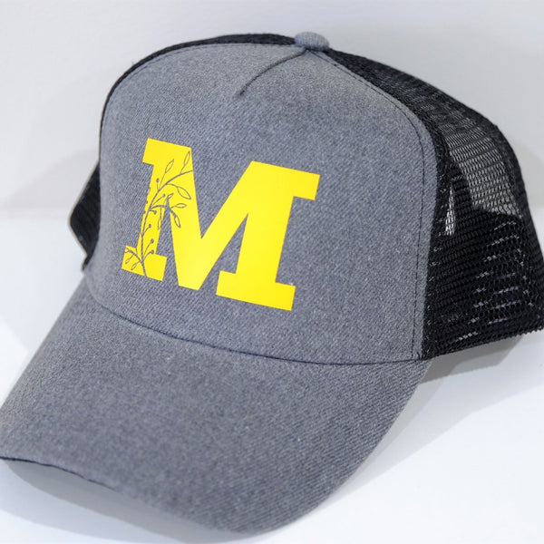 Heathered mesh trucker - Custom Name or Initial