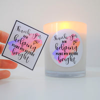 Teacher Stickers - DIY for lolly jars or candles