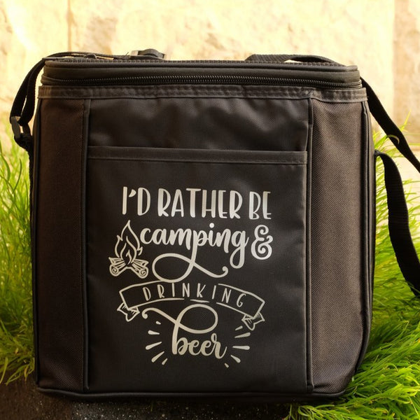 6 Drink Cooler Bag - I'd Rather Be Camping