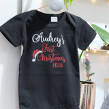 Baby short sleeve bodysuit - First Christmas