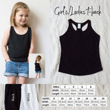 Girls/Ladies T-back Tank Top - Custom