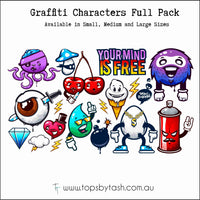 Wall Decals - Graffiti Characters