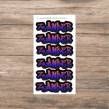 Name Label sticker sheets - large names