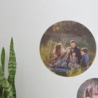 Fabric Photo Wall Decals - 20cm Round