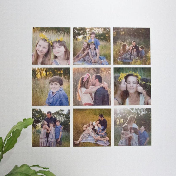 Fabric Photo Wall Decals - 15cm Square