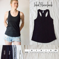 Ideal Racerback tank top - Keep Going Keep Growing