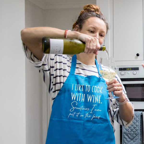 Apron - I Like to cook with wine