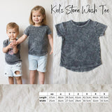 Stonewash long back Kid's Tee - Custom