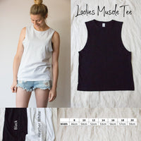 Ladies Muscle Tee - 3 little plants