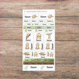 Name Label sticker sheets - mixed size sheets - Many themes!