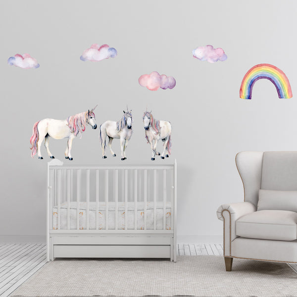 Wall Decals - Rainbow Unicorn collection