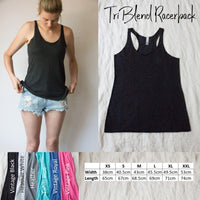 Racerback Tank Top - Already planning what I'm going to eat after this.