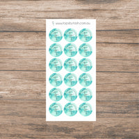 Round logo label stickers - 30mm circles