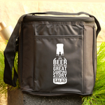 6 Drink Cooler Bag - Beer Because No Good Camping Story Started with Salad