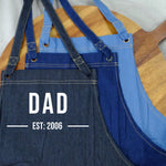 Denim Apron - Dad est personalised