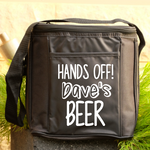 6 Drink Cooler Bag - Hand's Off! Personalised