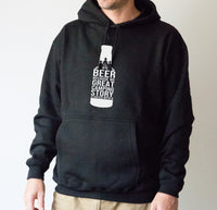 Hoodie - Beer Because No Great Camping Story Started with Salad