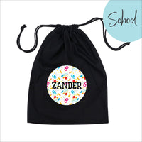Personalised reusable fabric gift bag - Library bag