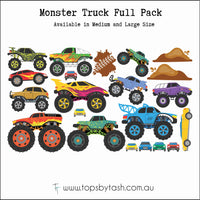 Wall Decals - Monster Trucks