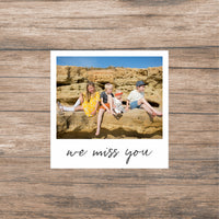 Fabric Photo Wall Decals - Medium polaroid with message