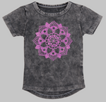 Kids stonewash long back Tee - Mandala