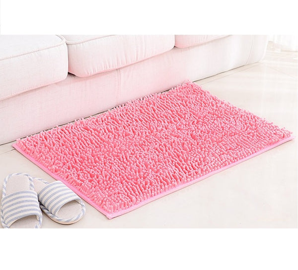 Pink Floor Mat Soft Big Rose Carpets for Bedroom strip Bedside strip non-slip pink