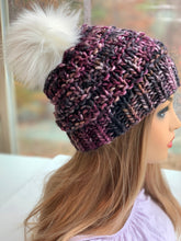 Blackberry cobbler - Luxury Merino beanie w/Pom Pom