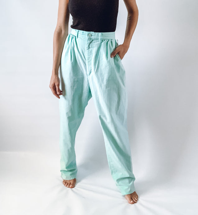 Lee Mint Striped Pants