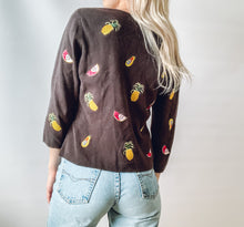Vneck fruit top