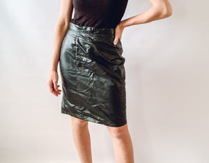 Leatherlike Skirt