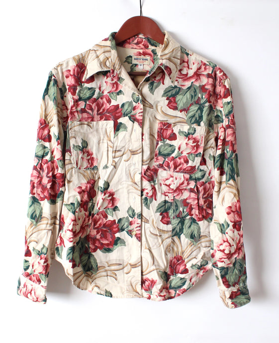 Guess Floral Button Up